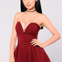 Julieta Romper - Wine