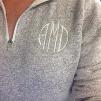 Monogrammed Heathered Pullover