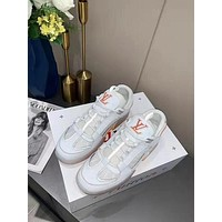 LV Men Fashion Boots fashionable Casual leather Breathable Sneakers Running Shoes01GH