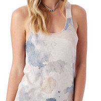 Meegs Printed Racer Tank Top