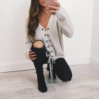 Laced Up All Night Sweater