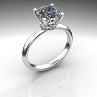 Forever Brilliant Moissanite and Diamond Engagement Ring 2.12 CTW