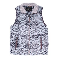 Frosty Tipped Double Up Tribal Vest in Aqua by True Grit