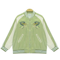 Bomber Jacket with Dragon Embroidery