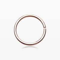 Rose Gold PVD Basic Steel Bendable Nose Hoop