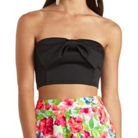 Bow-Front Cropped Tube Top by Charlotte Russe