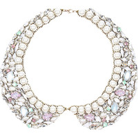 River Island Womens Crystal gem and pearl collar