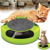 Pet cat toy cat board recreation game turntable (green) (Color: Green) [7670190278]