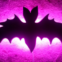 Bat Light, Night Light, Bat, Bat Decor, Horror Decor, Gothic Decor, Horror Decor, Horror, Gothic, Spooky, Halloween