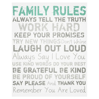 I love the Family Rules Wall Art in the True Blue event at Joss and Main!