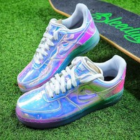 Nike Air Force 1 Low New York City NYC Ice Blue Sliver Iridescent Sport Shoes 779456-991 Sneaker - Best Online Sale