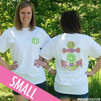 Monogrammed Preppy Anchor White T-Shirt | Clothing | Marley Lilly