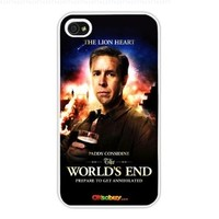 2013 World's End Movie Poster Paddy Kangsidaien, Fashion Design Hard Case Cover Skin Protector for Iphone 4 4s Iphone4 At & T Sprint Verizon Retail Packing (White Pc + Pearlescent Aluminum) Fs-00312