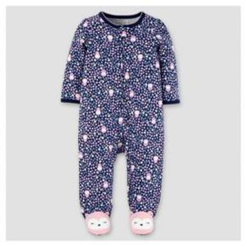 Baby Girls' Cotton Floral Owls Sleep N' Play - Just One You™ Made by Carter's® Navy