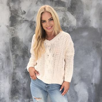 Freeze Out Cable Knit Sweater