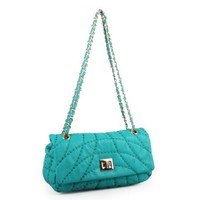 Quilted Chain-Strap shoulder Cross-Body Bag