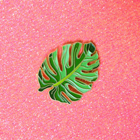 Tropical Leaf Lapel Pin Botanical Enamel Pin by HeatherBuchanan