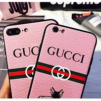PINK GUCCI Hot One Bee iPhone Phone Cover Case For iphone 6 6s 6plus 6s-plus 7 7plus