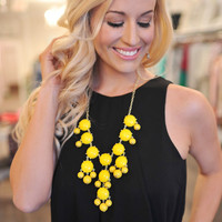 Bubble Necklace- Yellow