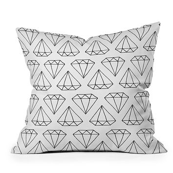 Wesley Bird Diamond Print 2 Throw Pillow
