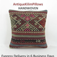 antique kilim pillow boho throw pillow covers decorative pillows rustic home decor house decoration pillows 000745