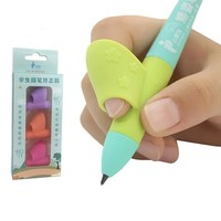 Cute Silicon Hold Pen Corrector Device For Kids Children Practice Pencil Grip Grasp School Supplies