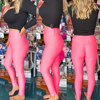 Booty Lifting Leggings- The TikTok Famous Leggings In Neon Pink