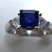 2.06ct Sapphire Diamond Engagement Ring JEWELFORME BLUE