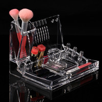 Jewelry Organizer Women Clear Mirror Cosmetics Makeup  Holder  Multifunction