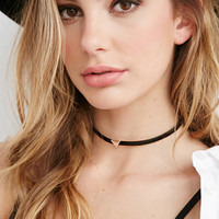 Faux Leather Triangle Choker