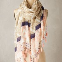 Meknes Tassel Scarf by Anthropologie in Pink Size: One Size Scarves