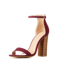 Faux Suede Ankle Strap Sandals | Charlotte Russe