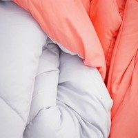 Fusion Coral/Glacier Gray Reversible Twin XL College Comforter XL Twin Bedding
