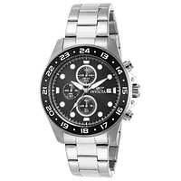 INVICTA Pro Diver Mens Chronograph - Black Dial - Stainless Steel - Date - 100m