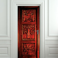 """Copy of Door STICKER Narnia wardrobe Gateway to another world fantasy antique mural decole film self-adhesive poster 60""""x30"""" from Pulaton"""