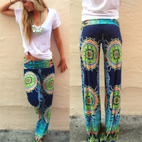 Printed Low Waist Pants