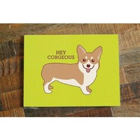 Hey Corgeous Corgi Card