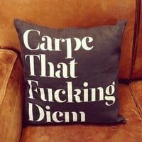 Wordboner Carpe Diem Pillow