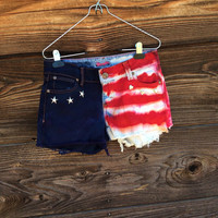 American Flag Dyed Shorts - size 3/4