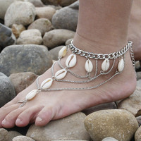 Shell Tassel Anklets For Women Ankle Bracelet On leg Barefoot Sandals Foot Jewelry Anklet Leg Bracelet Ankle Bracelets