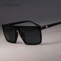 CCSPACE Retro Square Sunglasses Steampunk Men Women Brand Designer Glasses SKULL Logo Shades UV Protection Gafas