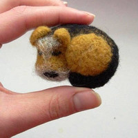Terrier lovers gifts Needle felt brooch Airedale Terrier brooch cairn terrier  irish terrier  Norfolk Terrier Dog owner gift applique design