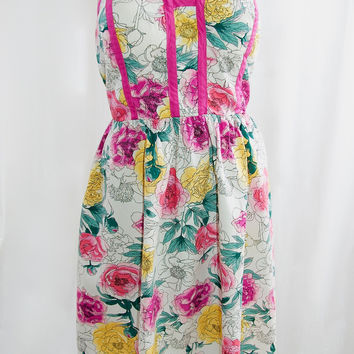 Floral Strapless Sundress