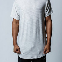 Grey | French Terry Skinny Striped Long Tee