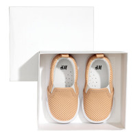 Slip-on Leather Shoes - from H&M
