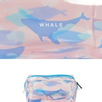 Whale Transparent Pvc Cosmetic Bag