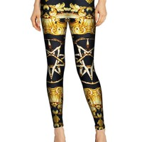 Stretch Stylish Skinny Pants Permeable Print Slim Pencil Pants Leggings [6049119553]