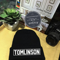 Louis Tomlinson Beanie Tomlinson 91 Cuffed Beanies Winter Hat Beanie Hat Use Flock Flex Really High Quality