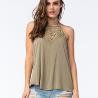 O'neill Dya Womens Halter Top Olive  In Sizes