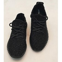 Adidas Women Yeezy Boost Sneakers Running Sports Shoes pure black